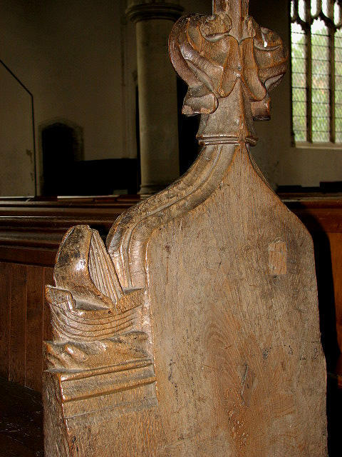 The church of All Saints - C15 bench end