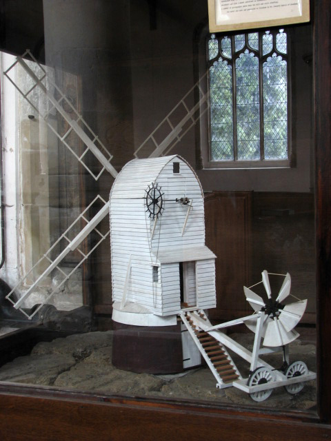 The church of All Saints - model windmill
