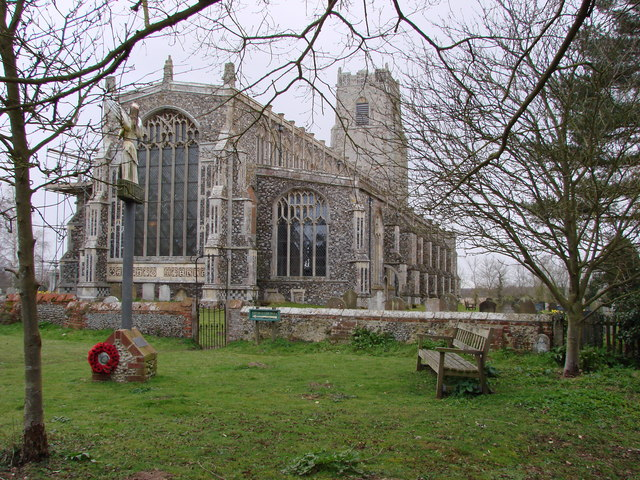 Resting place at Holy Trinity Church, Blythburgh