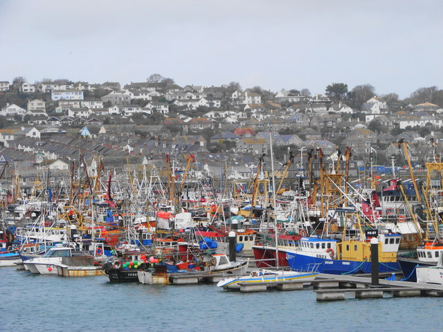 Newlyn harbour colours