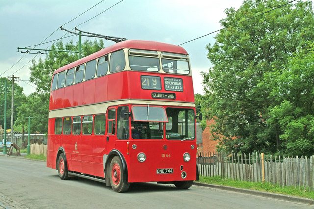 Manchester trolleybus 1344 at Black Country Living Museum