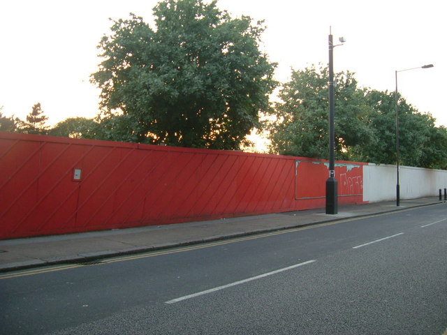 Site of former janet adegoke pool phillip perry geograph britain and ireland for Phoenix swimming pool white city