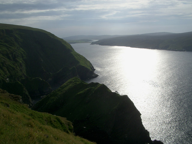 Leera Stack in mouth of Burra Firth