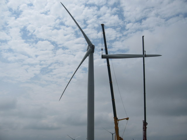The Final Turbine Blade attached to Turbine No 23