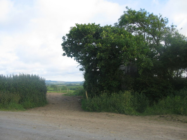 Field entrance near Hobbacott