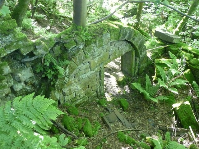Part of a ruined mill, Cragg Vale, Mytholmroyd