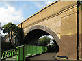 TQ3773 : Skew arch railway bridge, Catford : Week 23