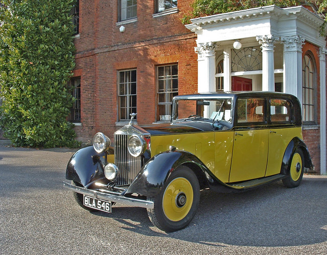 Yellow Rolls Royce, Capel Manor, Bulls Cross, Enfield
