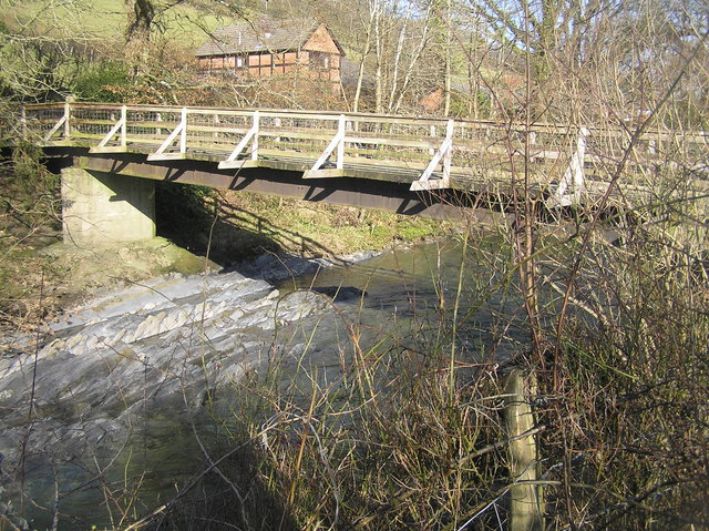 River Severn,Colonels timber farm access bridge.