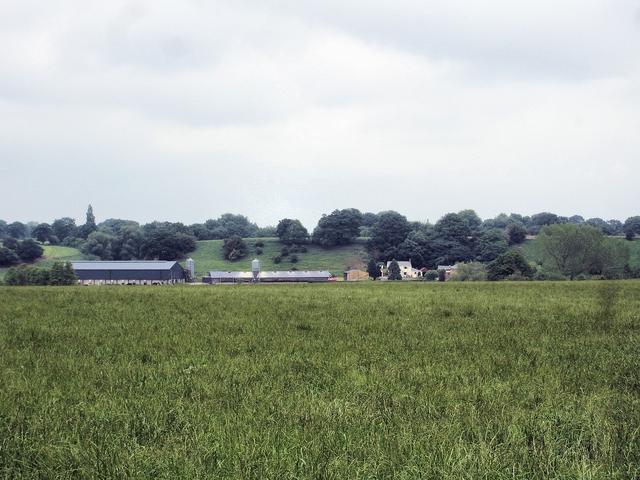 Bronington - view across valley to Sandholes