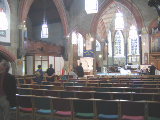 Interior of St Peter's church