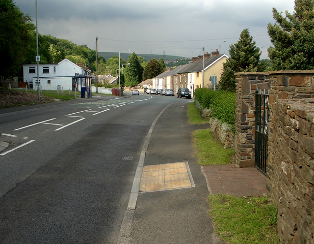 The A 4063 at Coytrahen