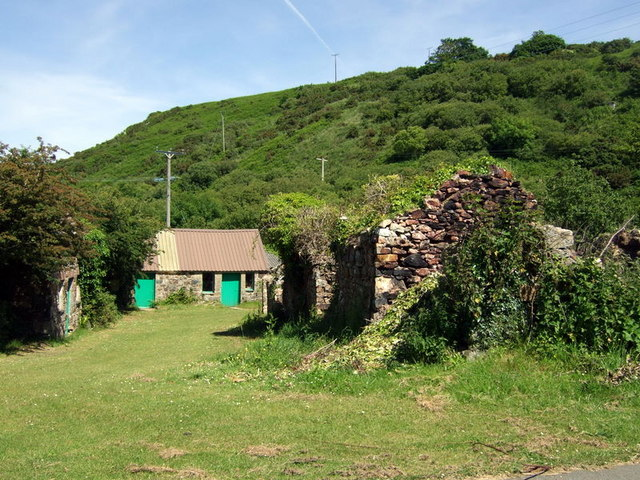Remains of Castell, Bwlchmawr