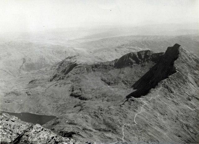 Y Lliwedd from Snowdon - 1960
