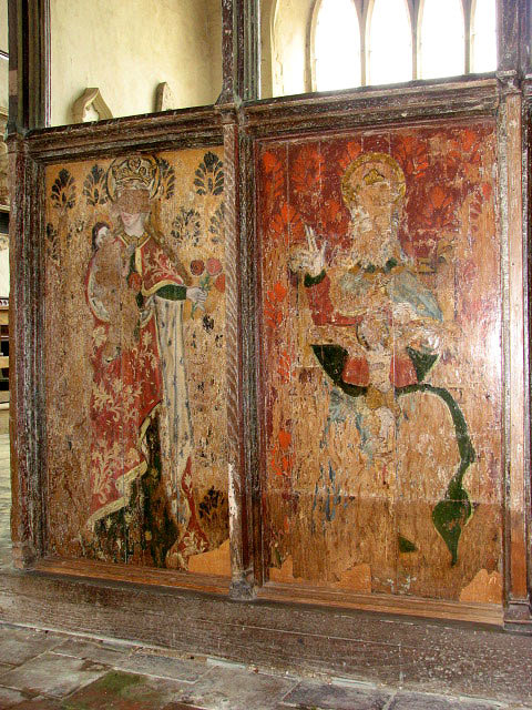 St Mary's church - C15 rood screen detail
