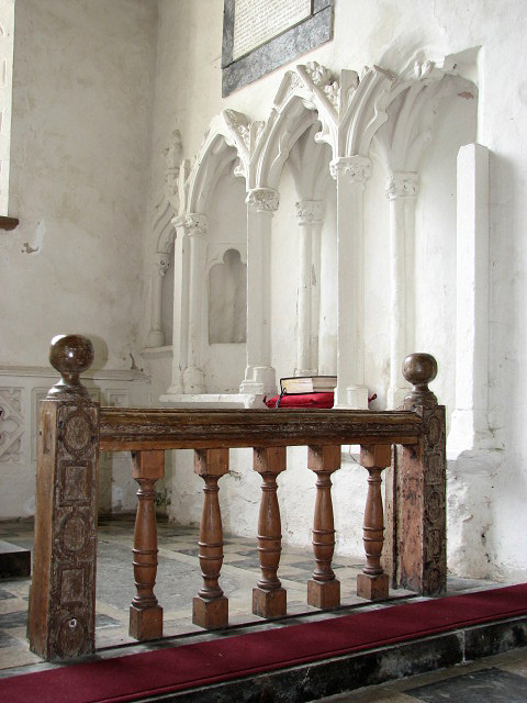 St Mary's church - carved communion rails