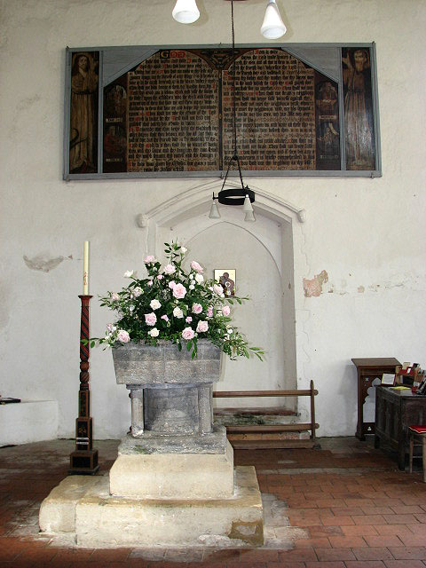 St Mary's church - C13 font