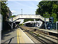 TQ4672 : Footbridge and platforms, Sidcup Station by David Martin