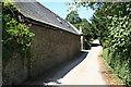 SW8148 : Roadside Farm Buildings at Gwarnick by Tony Atkin