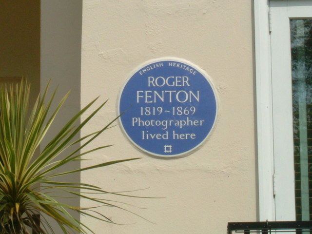 Roger Fenton's blue plaque, Albert Terrace, NW1