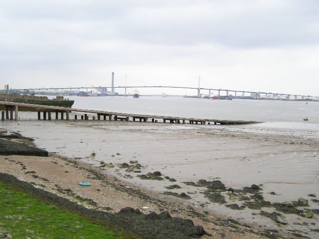 The QEII Bridge (Dartford Crossing), from Greenhithe
