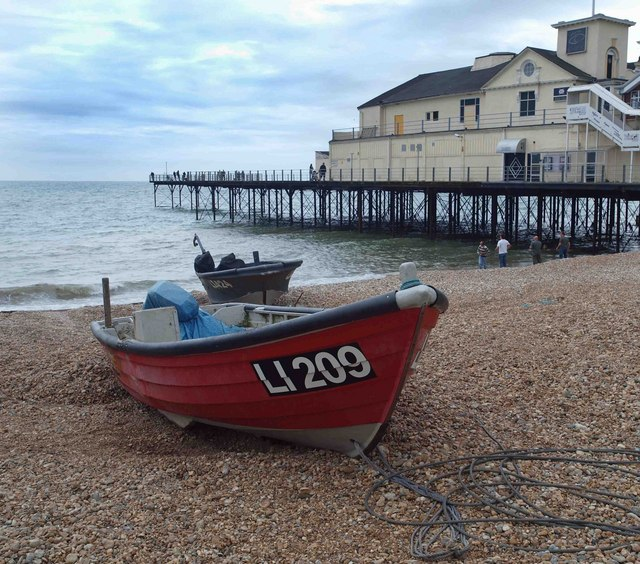 Fishing boats on Bognor Regis beach