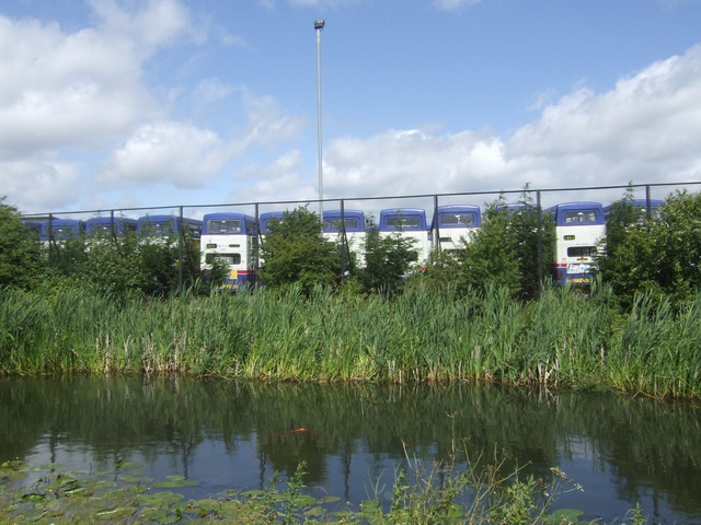 West Midlands Travel Depot beside the Wyrley and Essington Canal