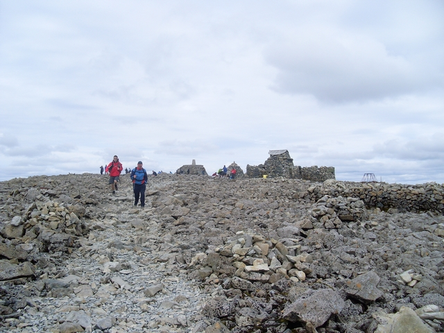 Approaching the summit of Ben Nevis