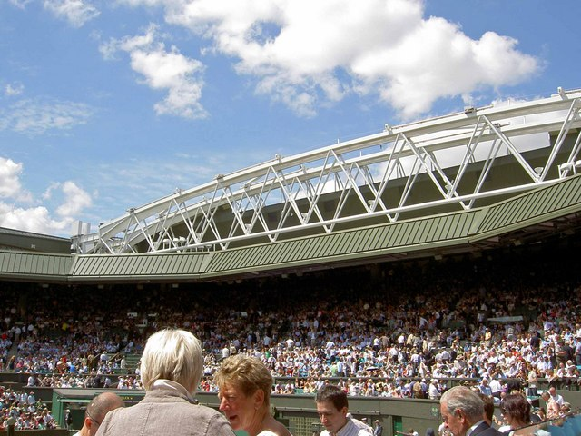 The new roof to Centre Court Wimbledon