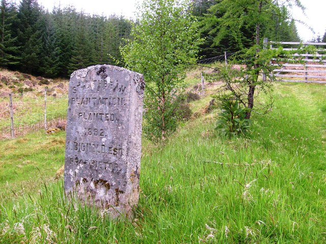 Strathbran Plantation commemorative stone
