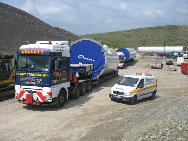 Scout Moor Wind Farm Construction Base