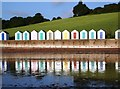 SX8957 : Beach Huts, Broadsands beach, Torbay by Tom Jolliffe