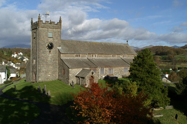 SD3598 : Hawkshead Parish Church-04 by David Long