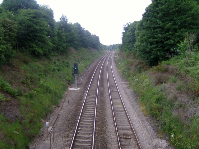 South Wales main line near Llanharan