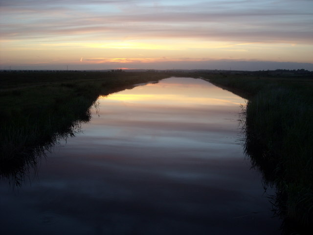 Sunset reflected in Wallers Haven