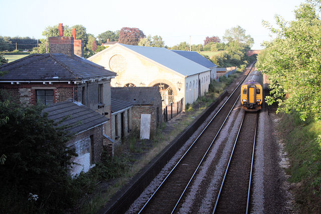 Former railway station at Higham