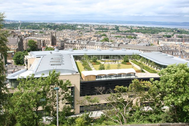 Modern roof garden from Calton Hill