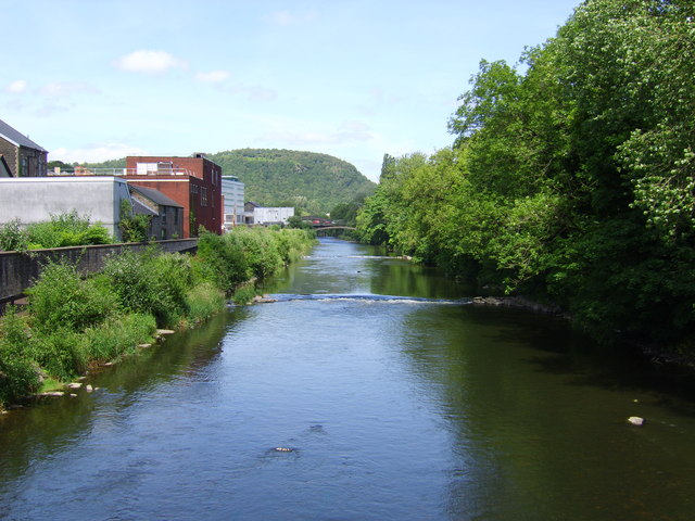 River Taff looking upstream.