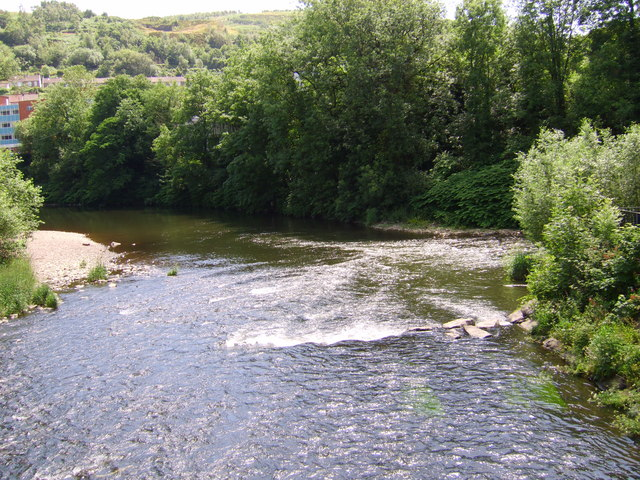 Rivers meet at Pontypridd