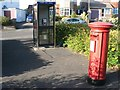 SZ0895 : Redhill: postbox № BH10 74, Wimborne Road by Chris Downer