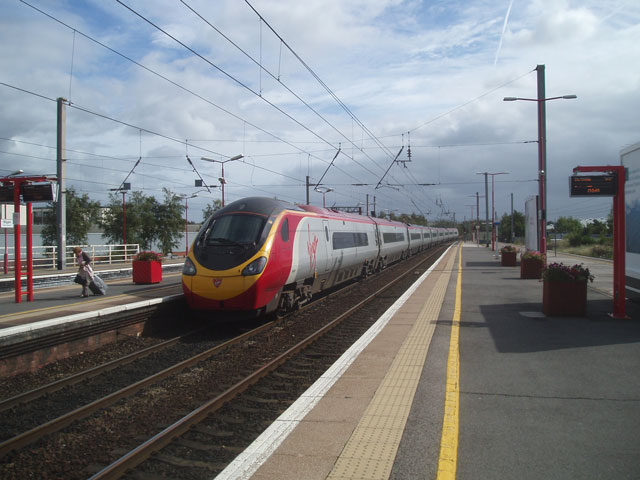 Pendolino at Wigan North Western