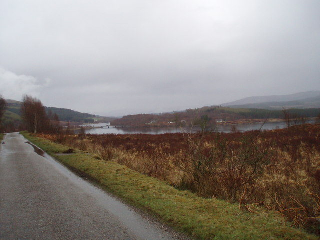 Bridge over Loch Garry seen from Inchlaggan