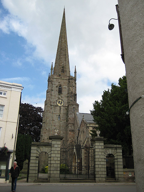 Tower and spire, St Mary's Priory Church