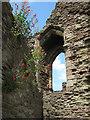 SO5012 : Window detail, Great Tower, Monmouth Castle : Week 26