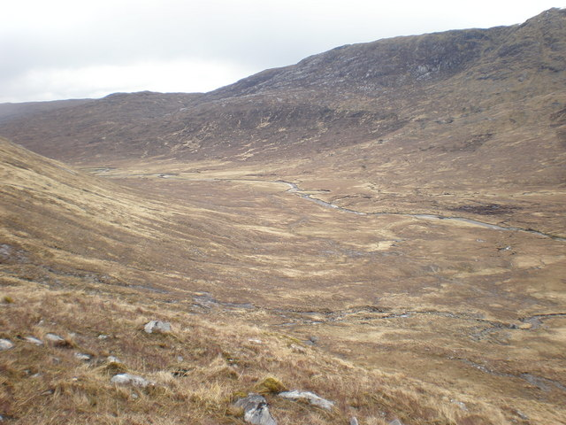 View over River Loyne from Coire Odhar