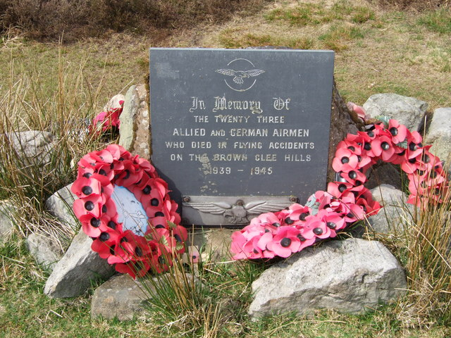 Memorial to airmen who have crashed on the Brown Clee hill