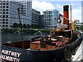 TQ3780 : The Portwey  tug in West India dock by ceridwen