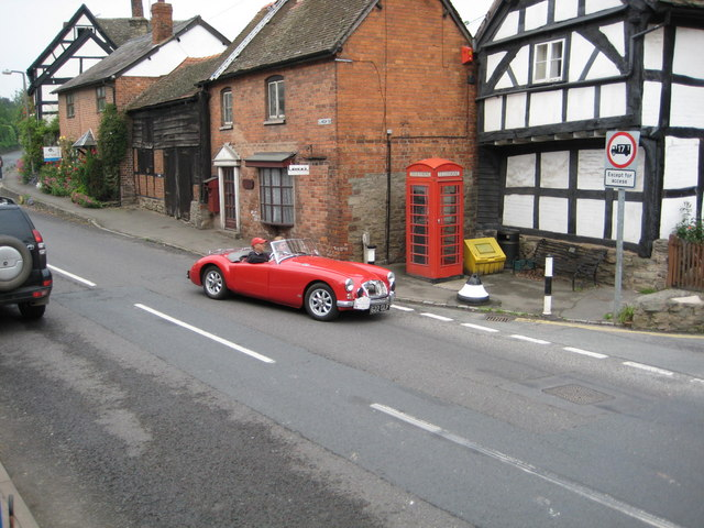 Classic MGA passing through Pembridge