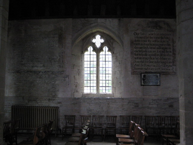 Wall paintings in St Mary's Church Pembridge