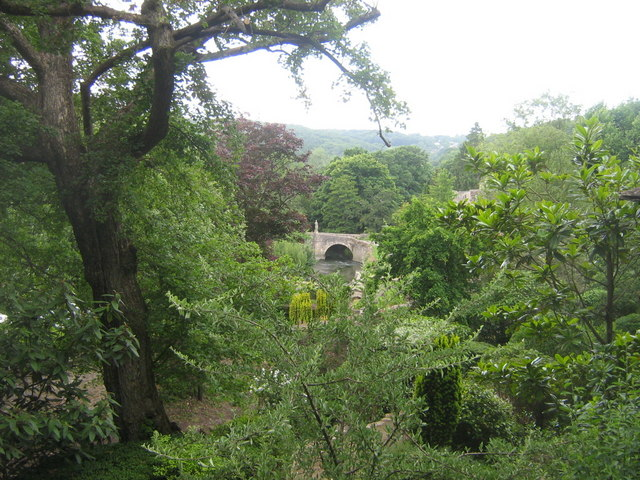 Iford Bridge from the Peto Garden at Iford Manor